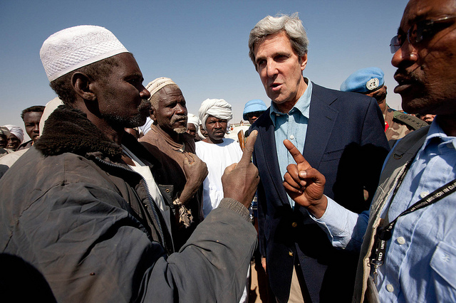 US Secretary of State John Kerry visits northern Darfur, Sudan. Photograph by Albert Gonzalez Farran/UNAMID.