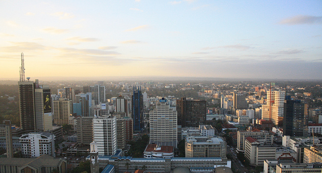 The Nairobi skyline. Photograph by Clara Sanchiz.