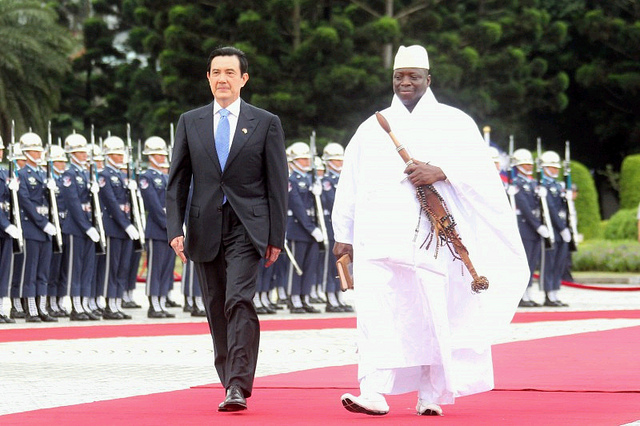 President Yahya Jammeh on a visit to Taiwan before relations were severed. Credit: Taiwan presidential office.