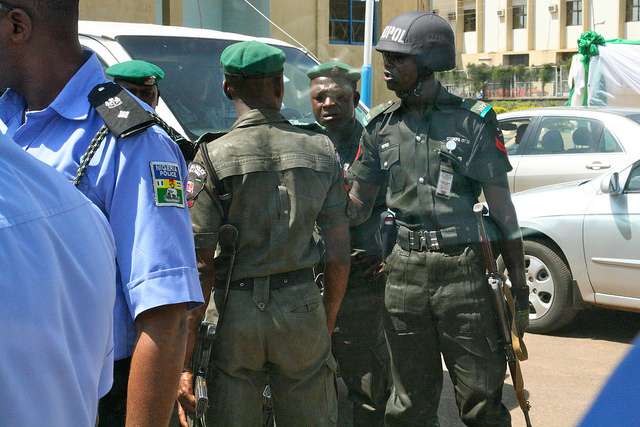 Nigerian security forces in Kaduna. Credit: Mr Ulster.