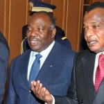 President Denis Sassou Nguesso (right) will almost certainly extend his rule after elections. Credit: GCIS.