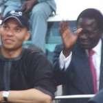 Karim Wade greets supporters. Credit: Serigne Diagne.