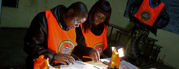 The UPND claims the election was marred by irregularities. Credit: Carol Sahley, USAID.