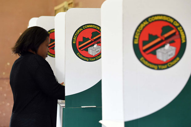 Zambians vote in the elections last year. Credit: DIRCO.
