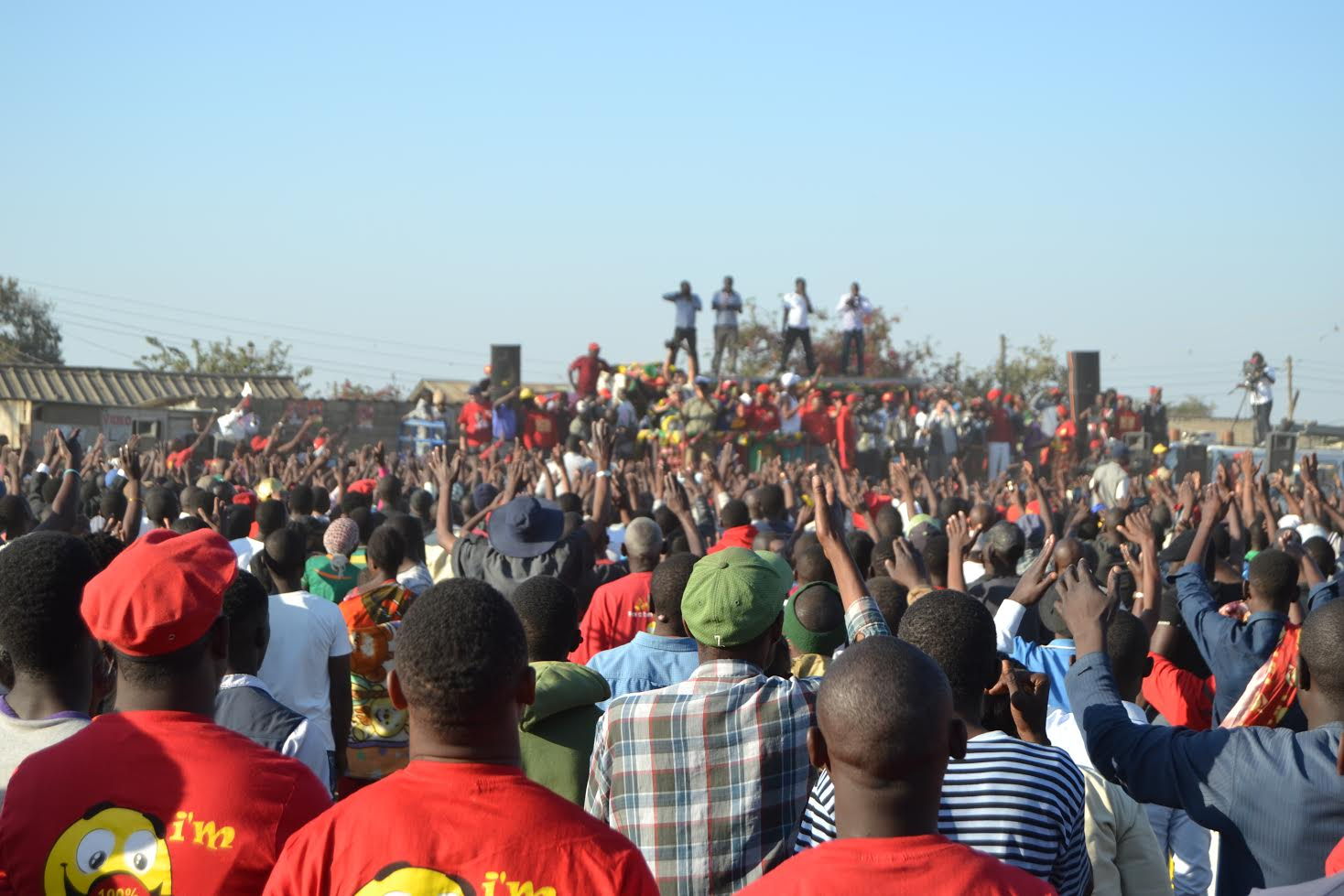 At a UPND rally in Lusaka on 6 August. Credit: Nicole Beardsworth.