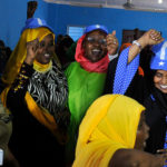 At a celebration raising awareness of women's participation in the 2016 elections. Credit: AMISOM/Ilyas Ahmed.