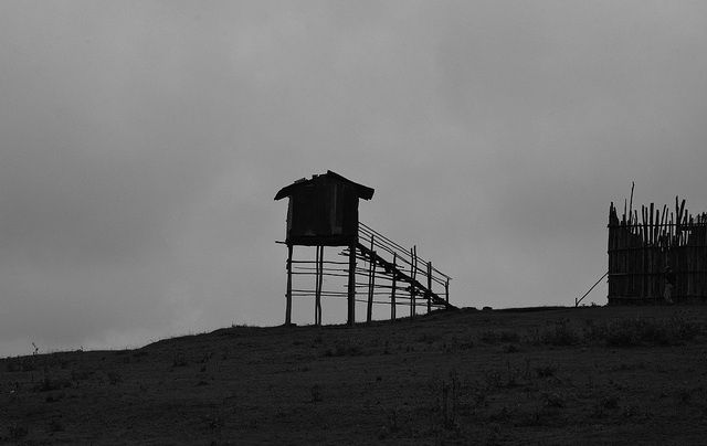 Prison guard tower at Shashamane Prison, Ethiopia. Credit: Rod Waddington.