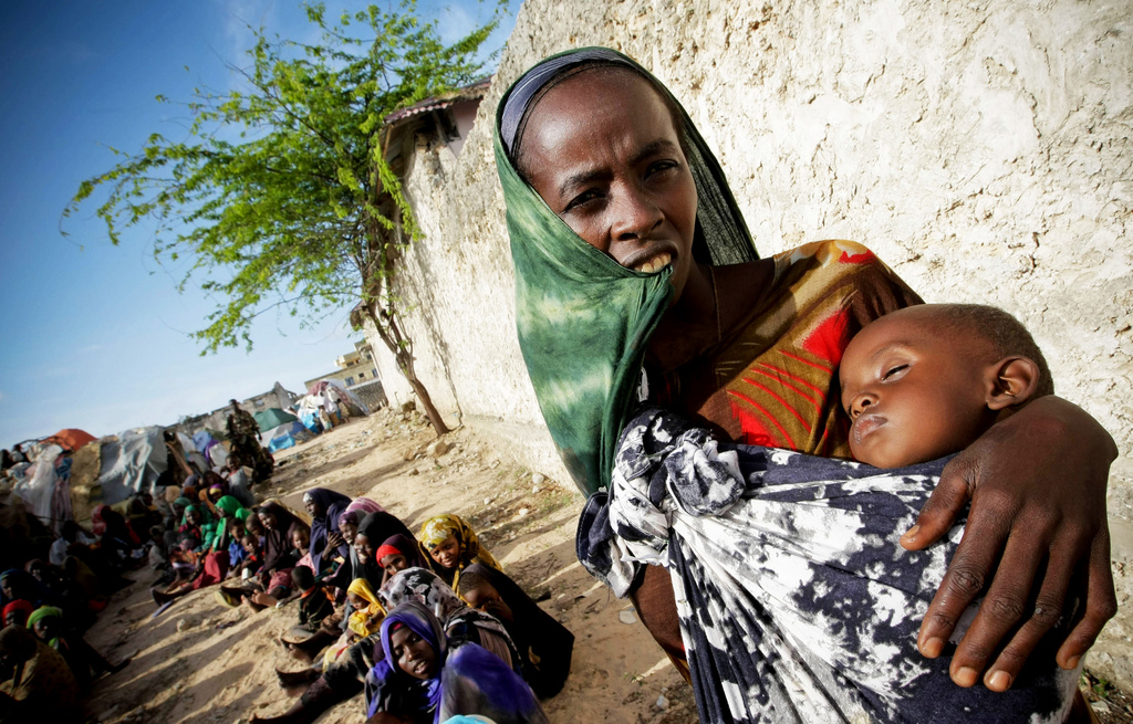 A queue for food assistance in Somalia in 2011.
