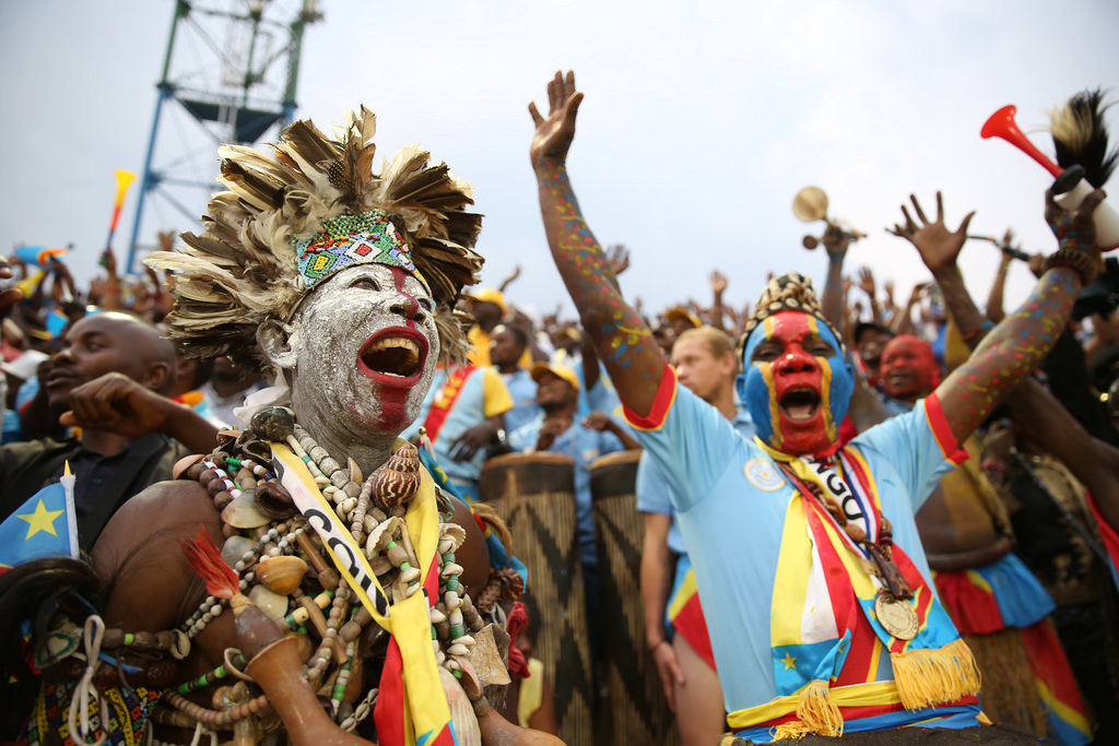 Congolese football fans celebrate victory. Credit: MONUSCO /Abel Kavanagh