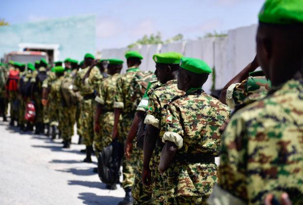 Burundian troops arrive in Mogadishu to serve under the African Union Mission in Somalia (AMISOM). Credit: AMISOM Photo / Ilyas Ahmed.
