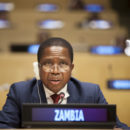 President Edgar Lungu at the UN in September 2017. Credit: UN Photo/Ariana Lindquist.