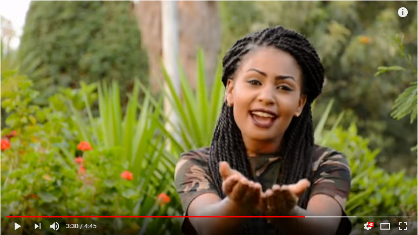 Screenshot from Aytitehamel, by Eseyas Debesay and the Yohannes sisters.