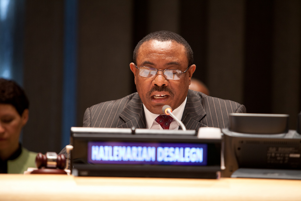 Hailemariam Desalegn, in power since 2012, has said he will remain a caretaker prime minister until his successor is picked. Credit: United Nations/Bo Li.
