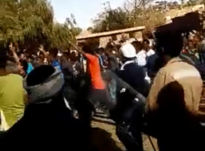 Screenshot from a video of the recent protest in Asmara, Eritrea.