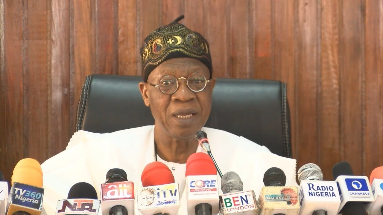 Nigeria's Minister for Information and Culture Lai Mohammed.