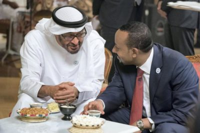 Abu Dhabi Crown Prince Sheikh Mohamed bin Zayed meets with Ethiopia's PM Abiy Ahmed in Addis Ababa in June. Credit: Mohamed Al Hammadi/Crown Prince Court - Abu Dhabi