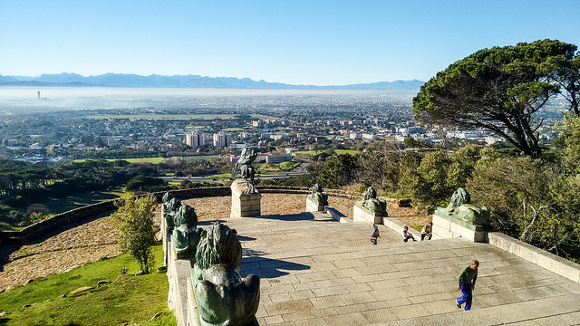 Overlooking Cape Town, South Africa, from the Rhodes Memorial. Photograph by jbdodane.