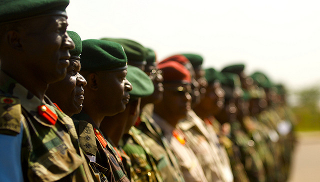 Soldiers line up in Nairobi, Kenya. Photo by US Army Africa.