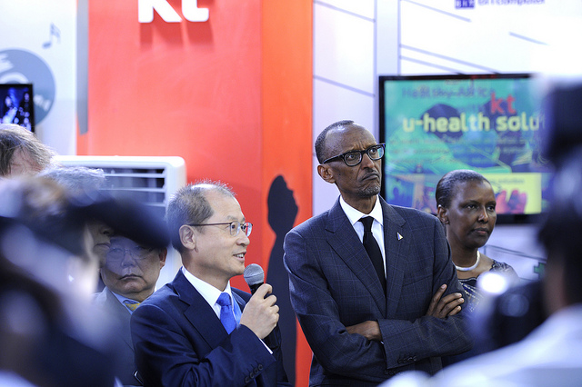 President Paul Kagame at the Transform Africa Summit 2013 in Kigali, Rwanda. Photograph by Rwanda Government.