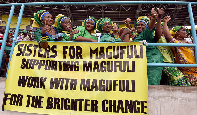 Sisters for Magufuli celebrate President John Magufuli's inauguration. Photograph by GCIS.