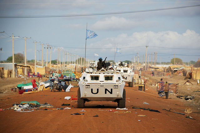 United Nations peacekeepers on the border between Sudan and South Sudan. Credit: UN Photo/Stuart Price.