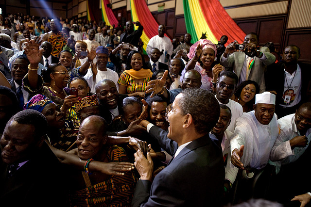 US President Barack Obama in Ghana, on his first visit to Africa as president. Credit: Pete Souza.
