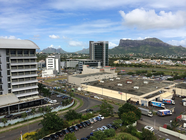 Overlooking Cyber City (aka Ebene) in Mauritius. Credit: Roo Reynolds.