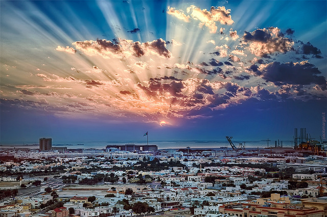 Sunset over Dubai, UAE. Credit: Paolo Margari.
