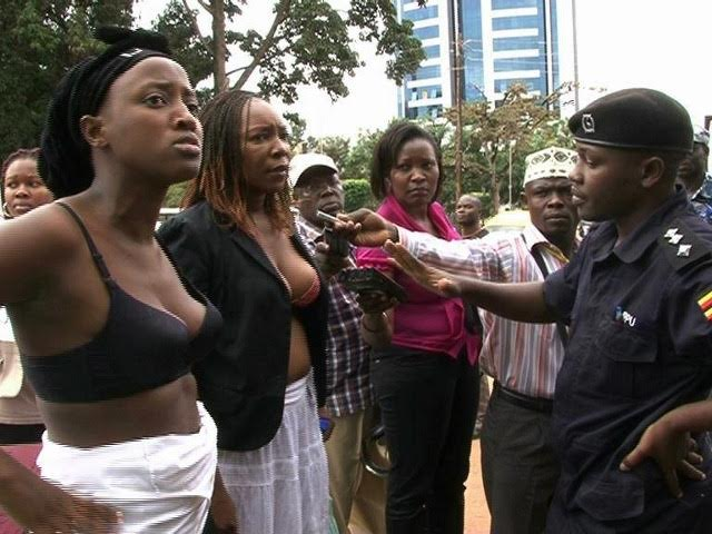 Ugandan women protesting in Kampala in 2012.