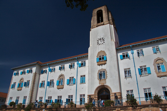 The Makerere University administration building. Credit: Ian Beatty.
