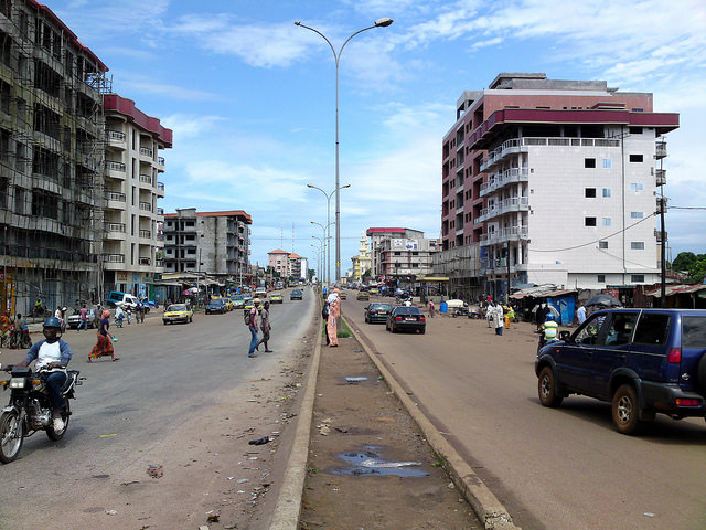 On the streets of Conakry, Guinea. Credit: Maarten van der Bent.
