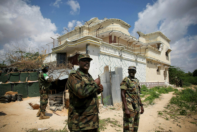 AMISOM and other troops have struggled to stop recent al-Shabaab attacks in Mogadishu. Credit: AU-UN/Stuart Price