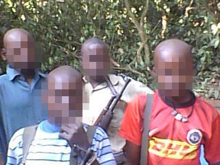 LRA child soldiers. Mid 2015, Democratic Republic of Congo. Photo obtained by Paul Ronan.