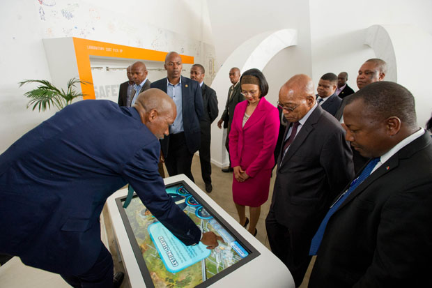 President Jacob Zuma at Nuclear Energy Corporation of South Africa.
