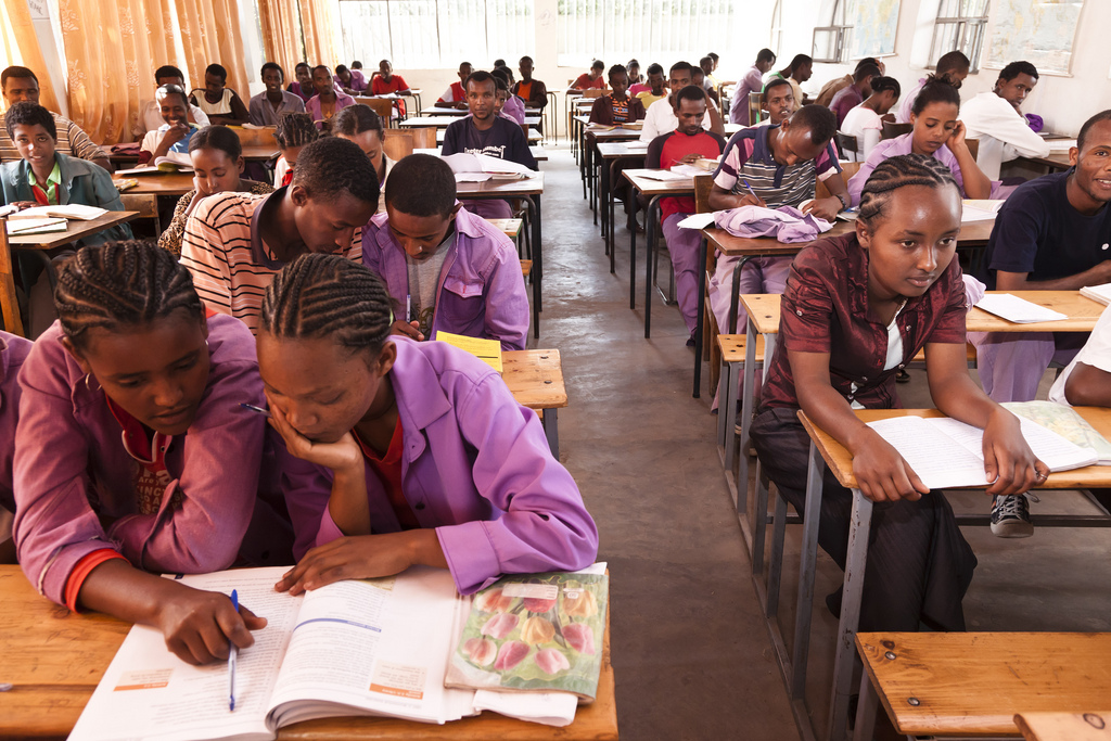 """Growing up in Ethiopia, fluency in English was considered a mark of progress and elite status."" Credit: UNICEF Ethiopia."