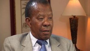 Quett Masire was president of Botswana from 1980 to1998.