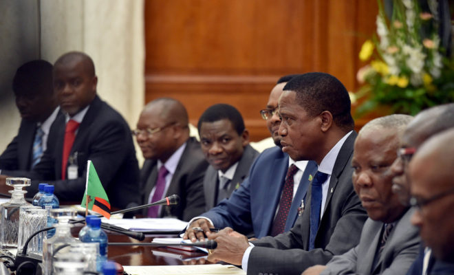 President Edgar Lungu is accused of embarking on a campaign against opposition voices across society. Credit: GCIS.