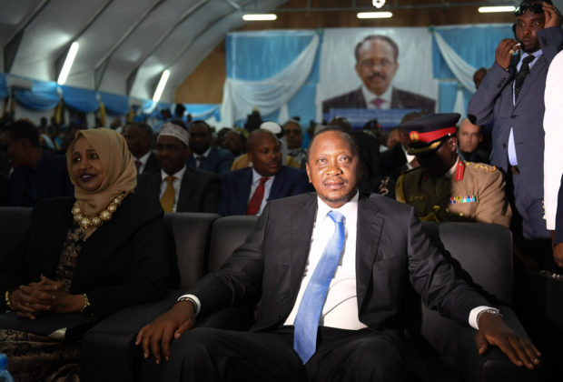 President Uhuru Kenyatta (pictured) and his Jubilee coalition face a strong challenge from the NASA alliance, led by Raila Odinga. Credit: AMISOM/Ilyas Ahmed.