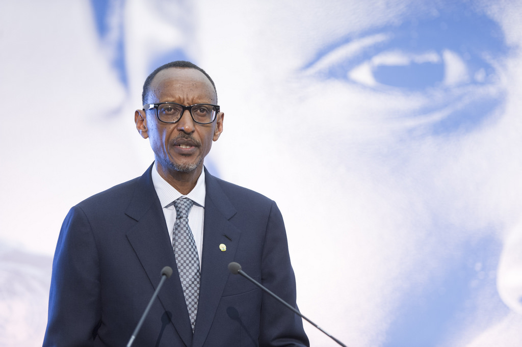 President Paul Kagame has been in power since 1994. Credit: UN Photo/Mark Garten.
