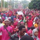 Thousands take to the streets in Togo to demand the reinstatement of the 1992 constitution.