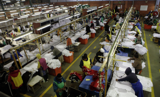 A textile factory in Lesotho. Credit: John Hogg.