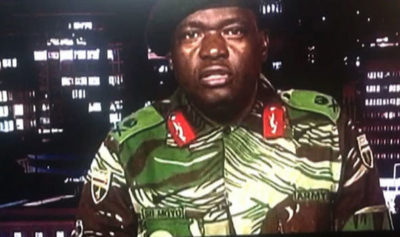 The military statement after taking power in Zimbabwe.