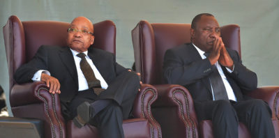 South Africa's president with the ruling African National Congress' new leader. Credit: GCIS.