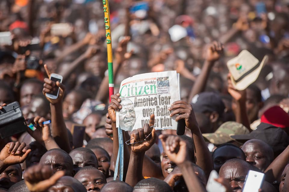 At an opposition rally in Homa Bay, Kenya. Credit: NASA.