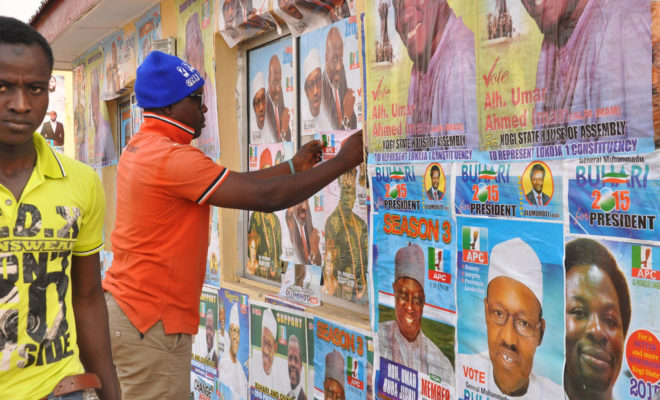Campaigning in the Nigeria elections in 2015. Credit: Heinrich-Böll-Stiftung.