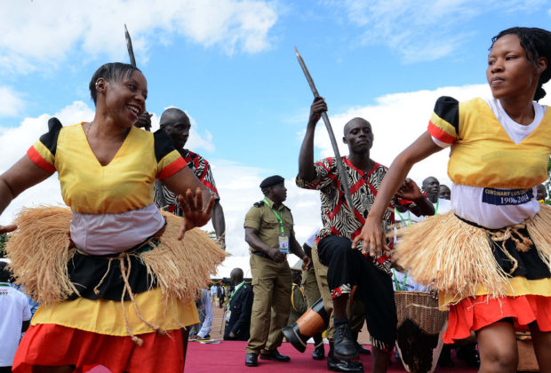 Ugandan dancers at President Yoweri Museveni's 2016 swearing in. Credit: GCIS