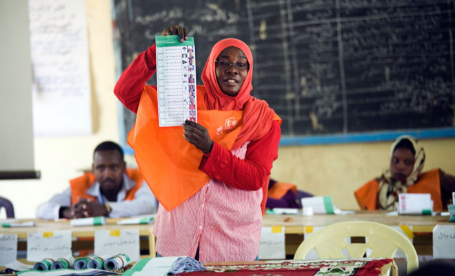 There are several African elections coming soon. Credit: UNAMID /Albert Gonzalez Farran