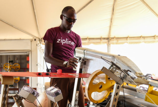 Rwanda has been using drones to deliver blood, but the technology could be expanded to other urgent deliveries in tackling NTDs. Credit: Sarah Farhat/World Bank