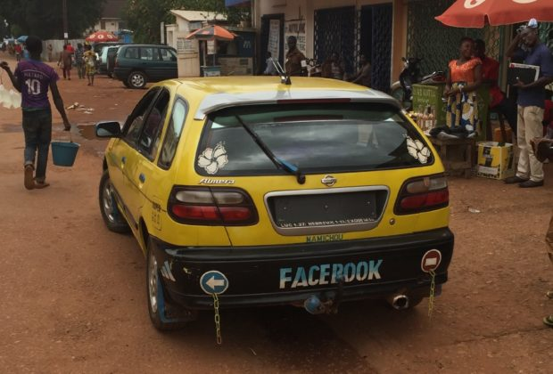 Facebook's ride in Bangui. Credit: Daniel Ziegler.
