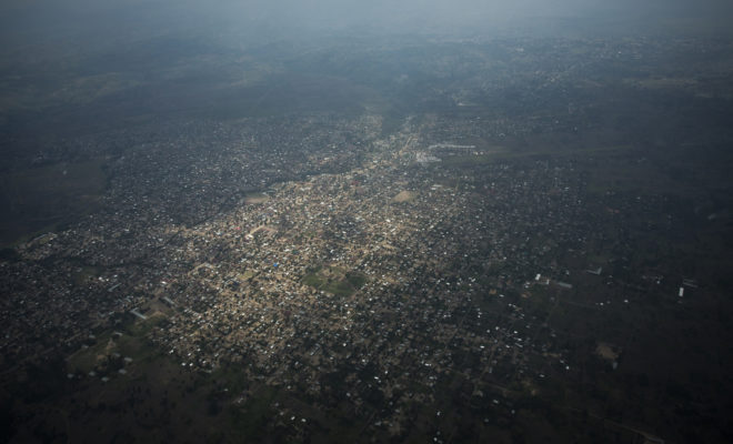 Congo oil: Above the surrounding areas of Virunga national park. Credit: Joseph King.